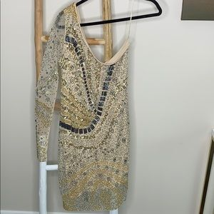 Beaded 1 arm dress